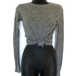 Zara Basic Long Sleeve Ribbed Shirt